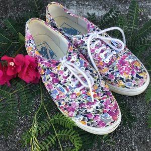 VANS floral lace up Sneakers
